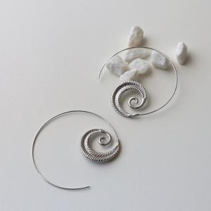 pendientes espiral boho