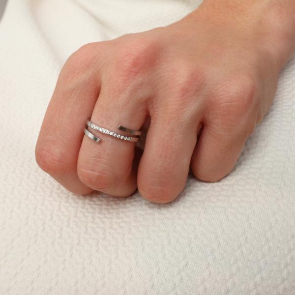 anillo strass