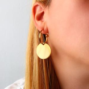 pendientes aro geométricos dorados