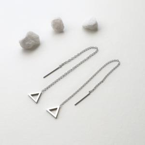 pendientes cadena triángulos