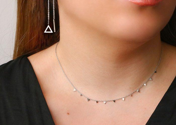 pendientes cadena triángulo