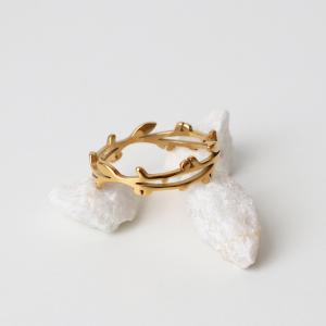 anillo rama dorado