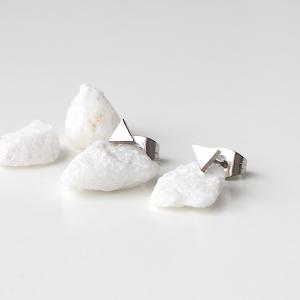 pendientes mini triángulos